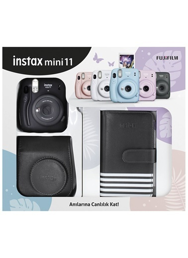 Fujifilm İnstax Mini 11 Laporta Albümlü Siyah Kit Siyah